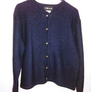 Sag Harbor Cardigan Wool Dark Blue Sweater